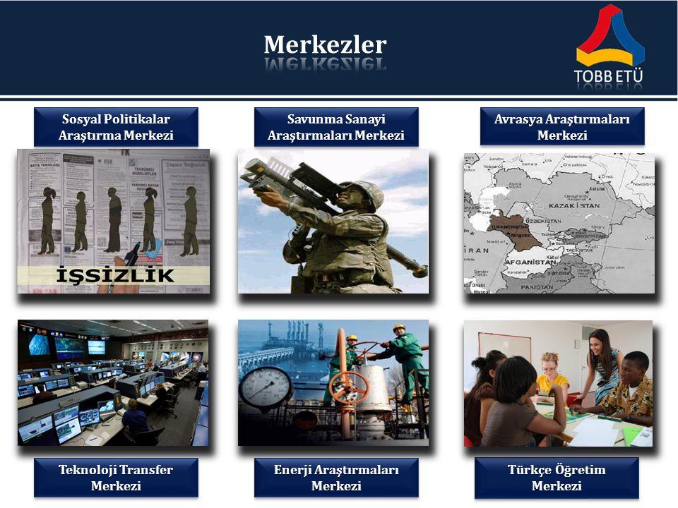 Teknoloji Transfer Merkezi Enerji Araştırmaları Merkezi Türkçe Öğretim Merkezi Avrasya Araştırmaları Merkezi Savunma Sanayi Araştırmaları Merkezi Sosy