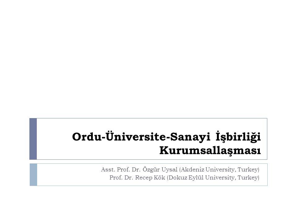 Ordu-Üniversite-Sanayi İşbirliği Kurumsallaşması Asst.