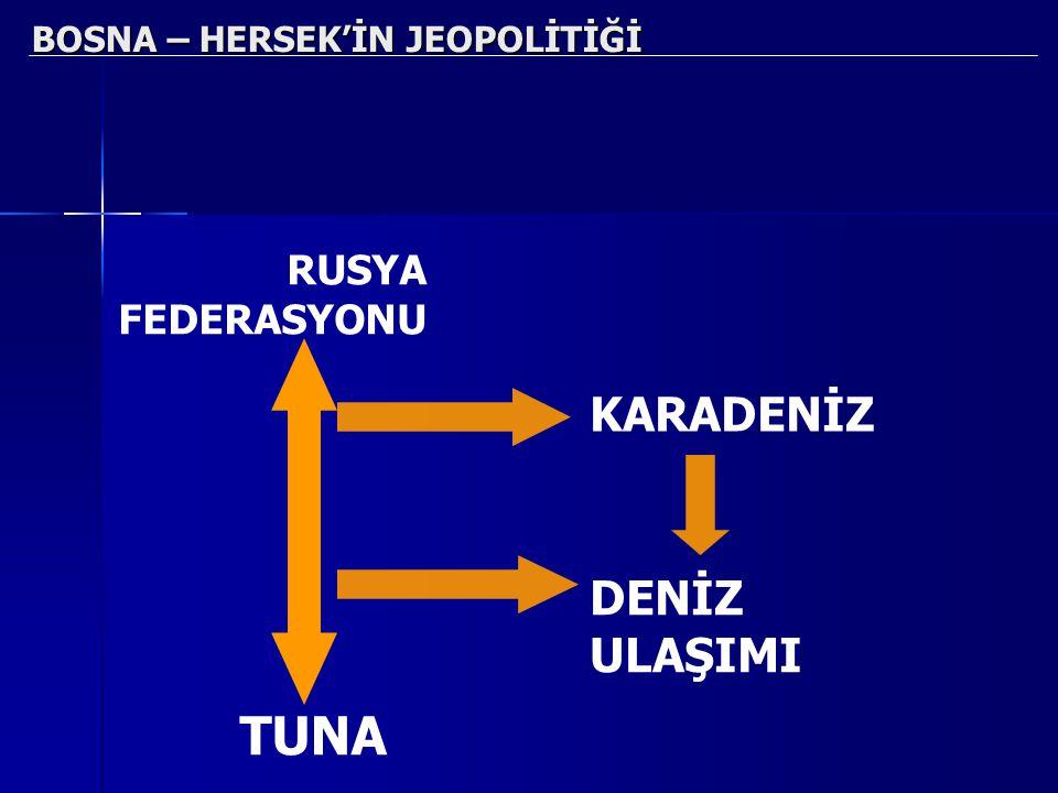 BOSNA – HERSEK'İN JEOPOLİTİĞİ RUSYA FEDERASYONU TUNA KARADENİZ DENİZ ULAŞIMI