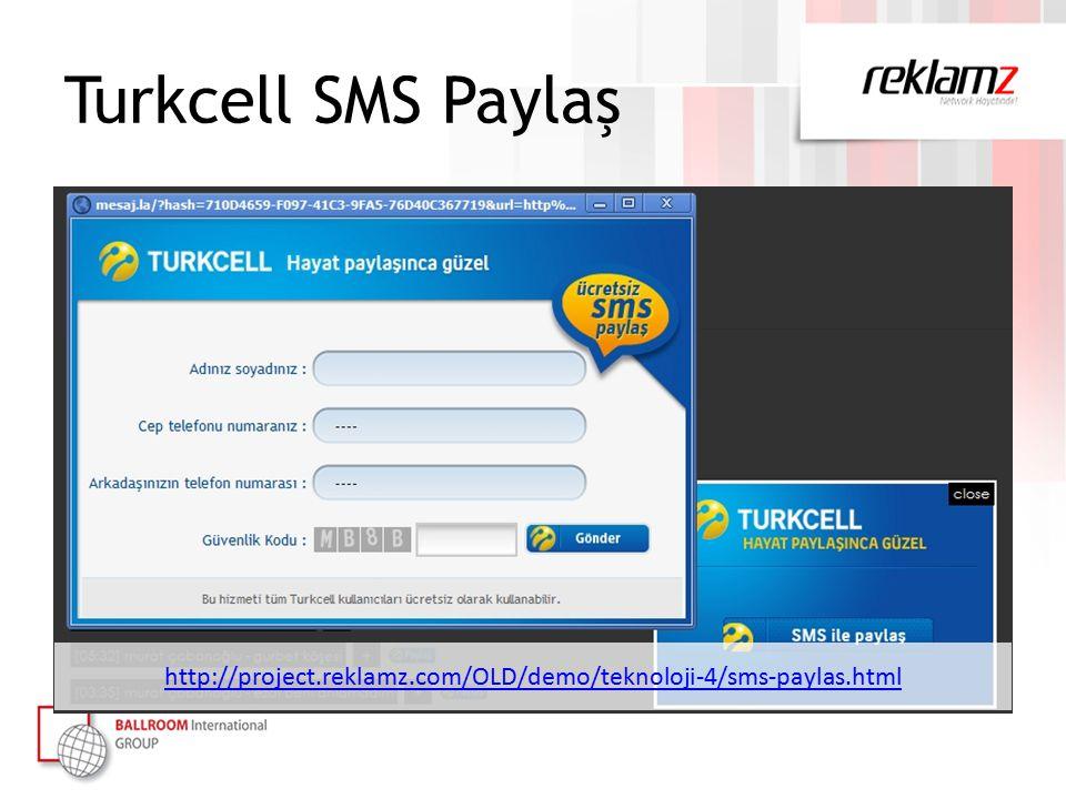 Turkcell SMS Paylaş http://project.reklamz.com/OLD/demo/teknoloji-4/sms-paylas.html