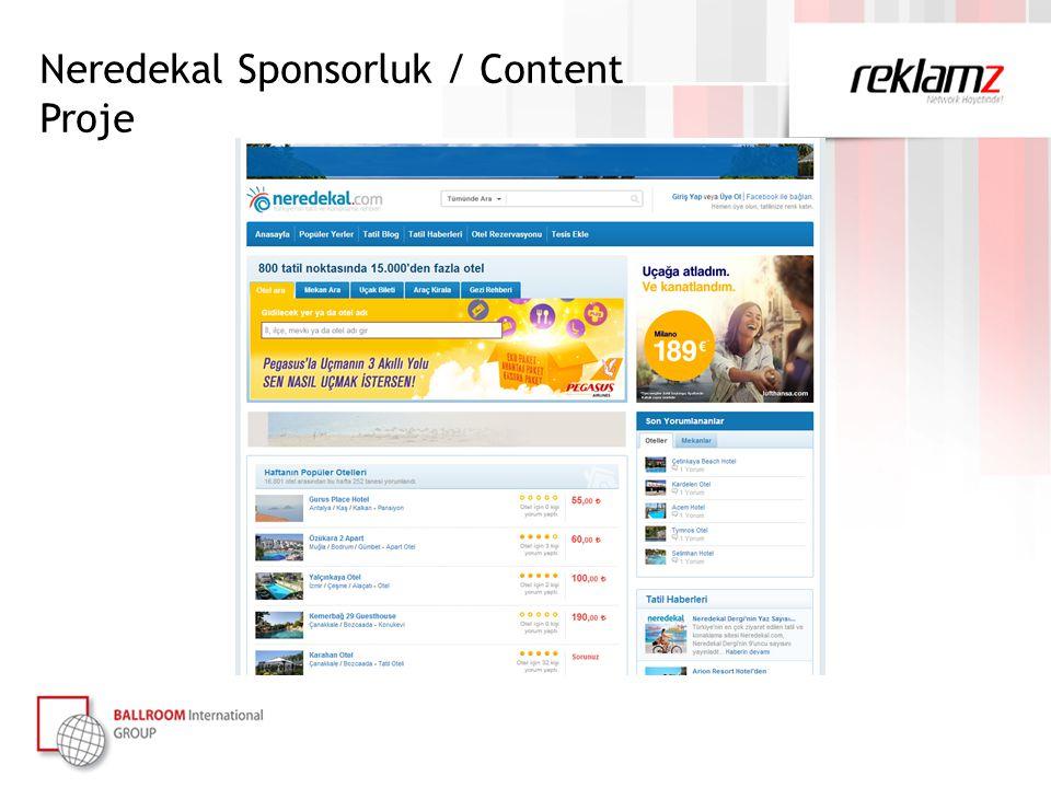Neredekal Sponsorluk / Content Proje