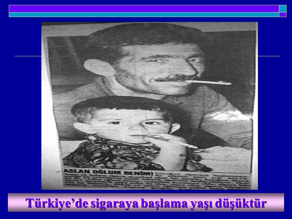 Türkiye'de sigaraya başlama yaşı düşüktür