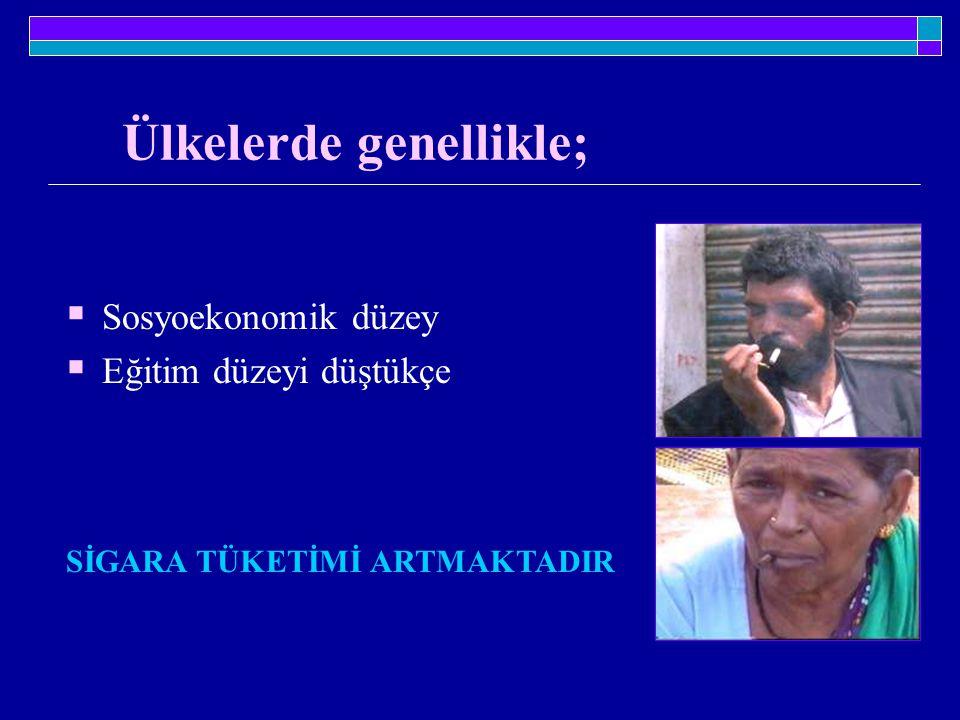 Türkiye'de durum böyle değil.Gelir yükseldikçe, sigara içme oranı da yükseliyor.