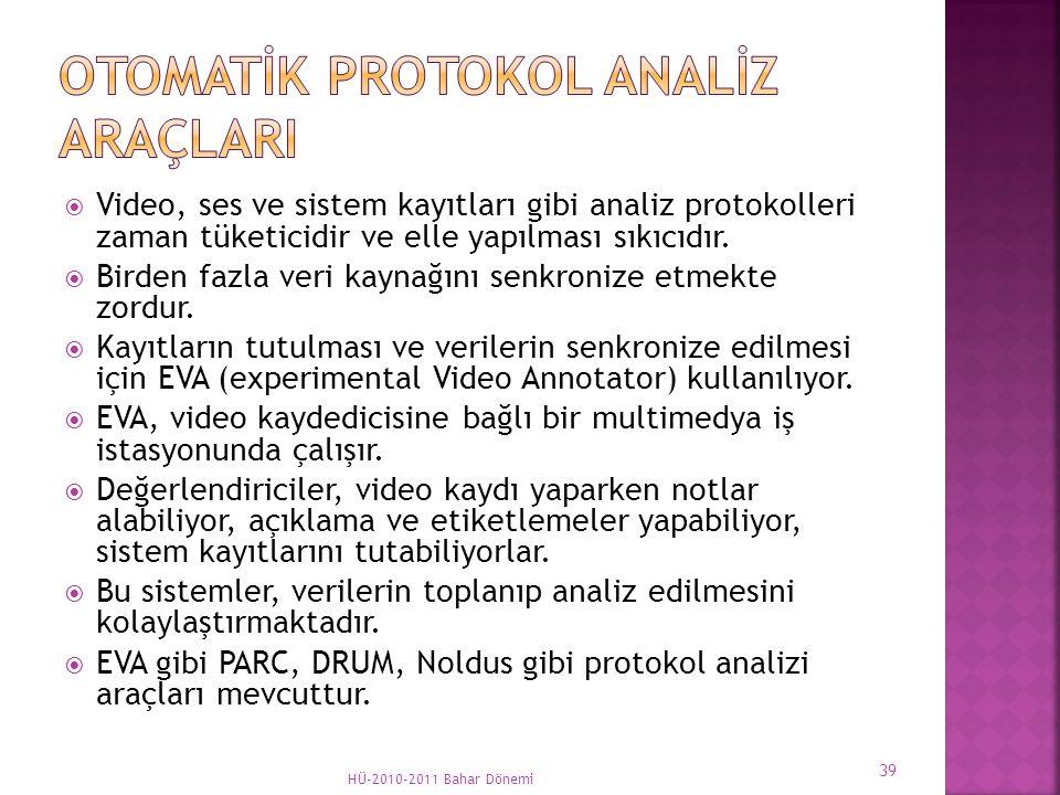  Video, ses ve sistem kayıtları gibi analiz protokolleri zaman tüketicidir ve elle yapılması sıkıcıdır.  Birden fazla veri kaynağını senkronize etme