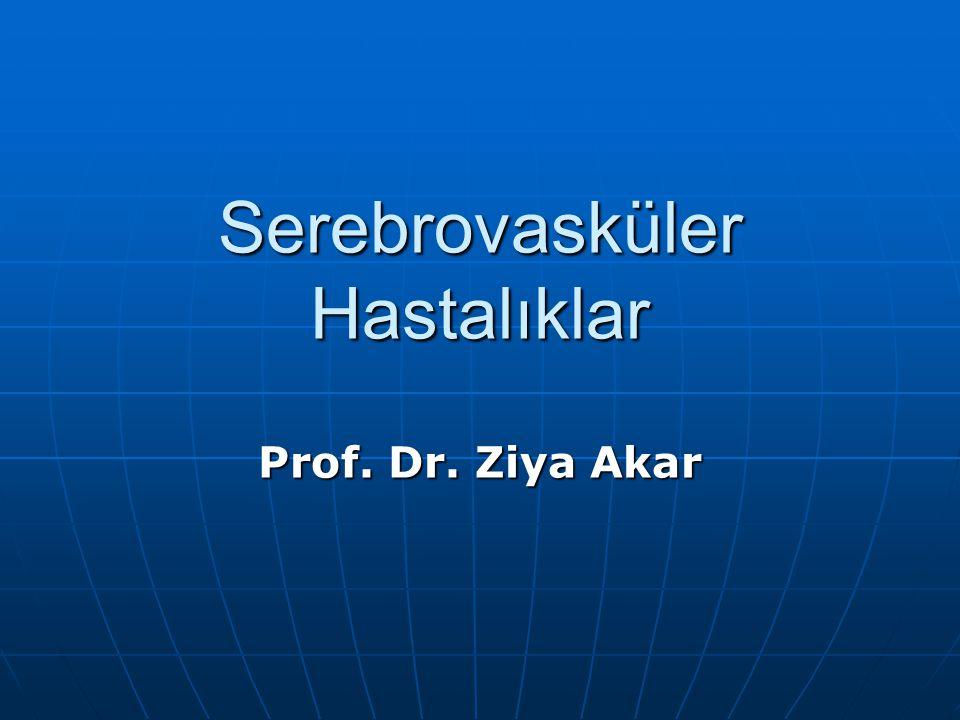 Serebrovasküler Hastalıklar Prof. Dr. Ziya Akar