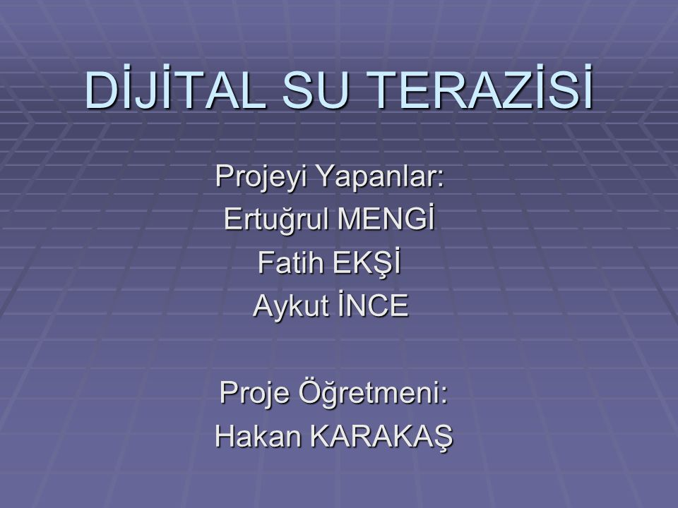Projenin Amacı Açıları elektronik ortamda daha hassas ve dijital olarak gerçekleştirmek.