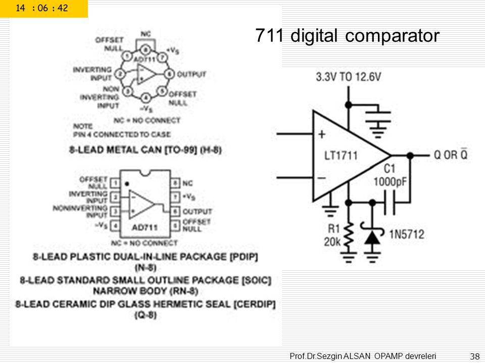Prof.Dr.Sezgin ALSAN OPAMP devreleri 38 711 digital comparator