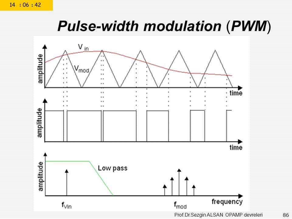 Prof.Dr.Sezgin ALSAN OPAMP devreleri 86 Pulse-width modulation (PWM)