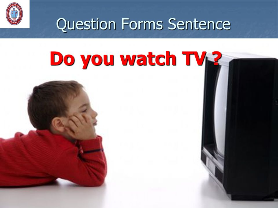 Question Forms Sentence Do you watch TV ?