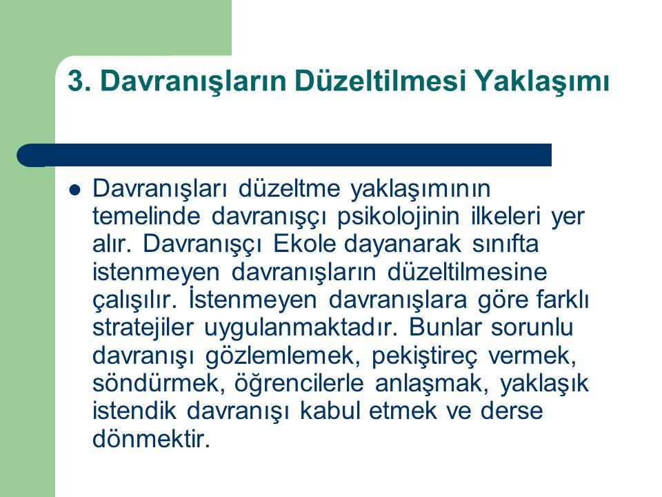 SORUNLU DAVRANIŞLARA KARŞI STRATEJİLER 1.