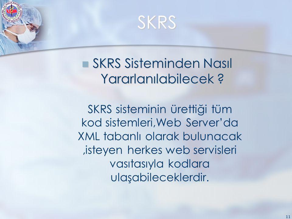 11 SKRS SKRS Sisteminden Nasıl Yararlanılabilecek .