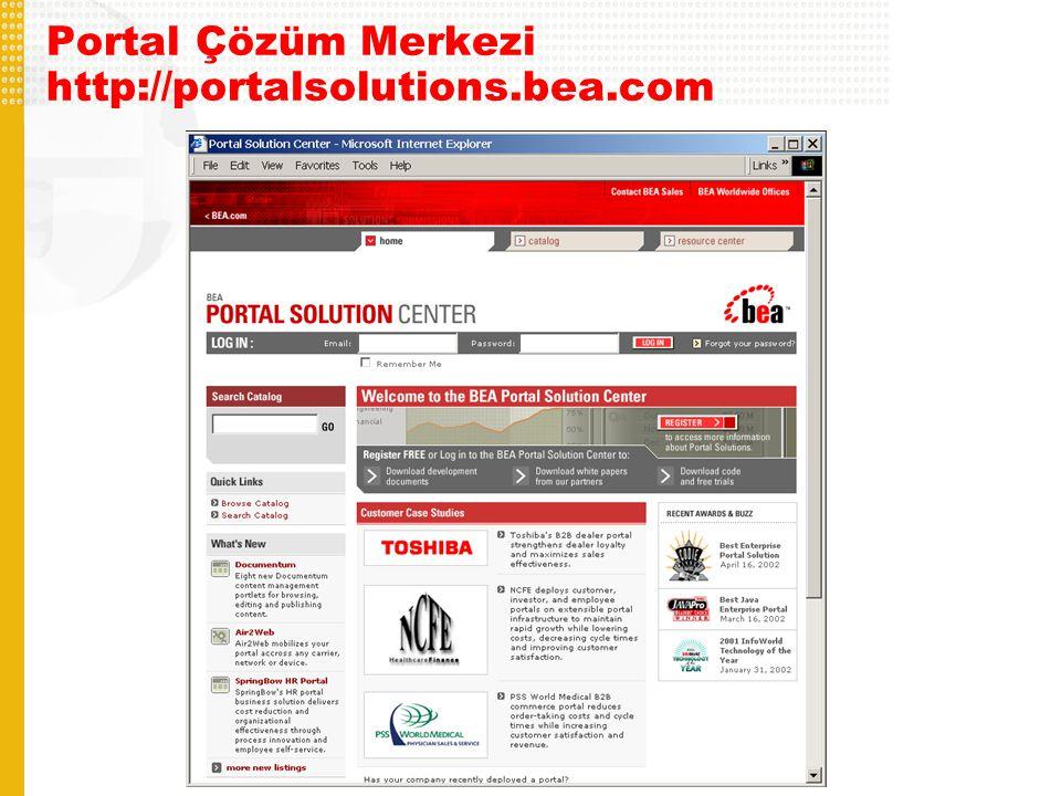Portal Çözüm Merkezi http://portalsolutions.bea.com
