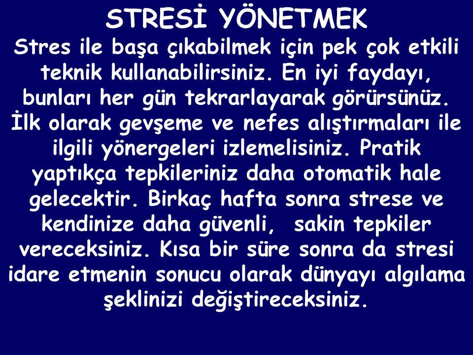 Stresin tamamıyla kötü olmadığını dikkate alarak işe başlayın.