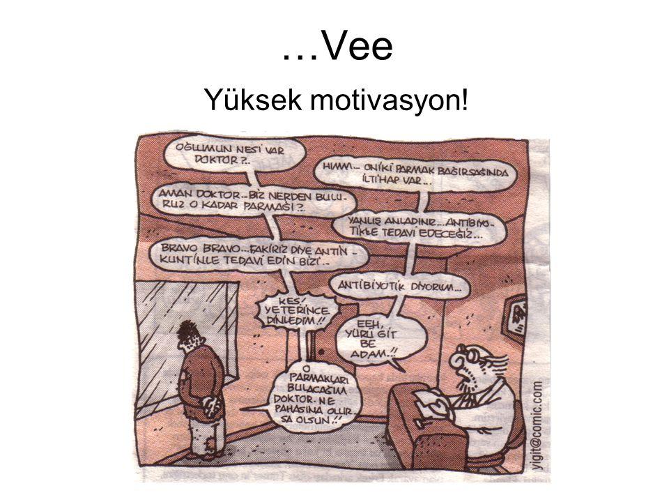 …Vee Yüksek motivasyon!