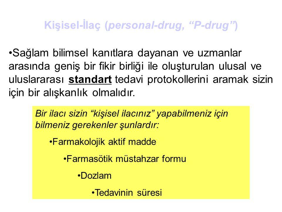 """Bir ilacı sizin """"kişisel ilacınız"""" yapabilmeniz için bilmeniz gerekenler şunlardır: Farmakolojik aktif madde Farmasötik müstahzar formu Dozlam Tedavin"""