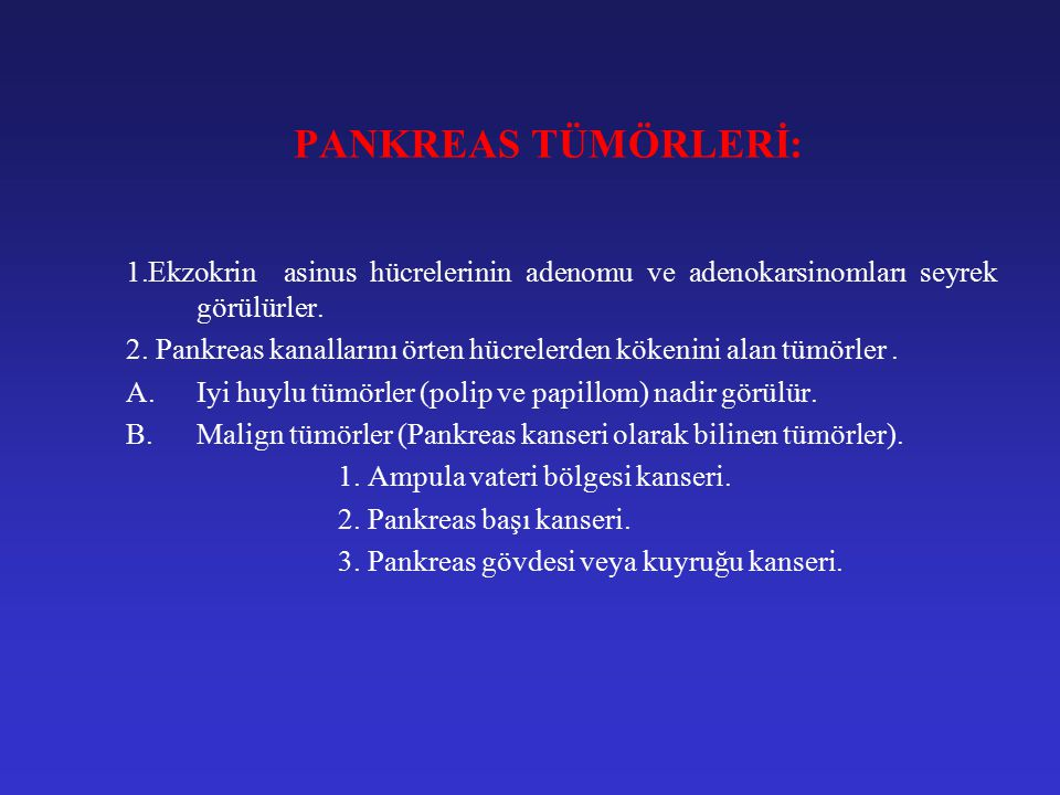 PANKREAS TÜMÖRLERİ 3.