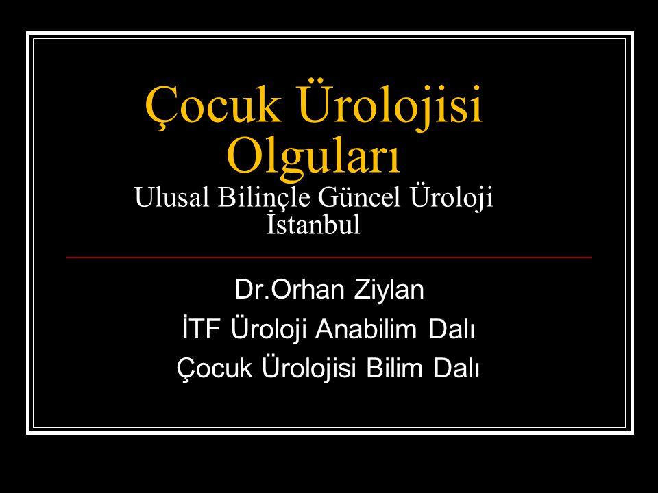 Çocuk Ürolojisi Olguları Ulusal Bilinçle Güncel Üroloji İstanbul Dr.Orhan Ziylan İTF Üroloji Anabilim Dalı Çocuk Ürolojisi Bilim Dalı