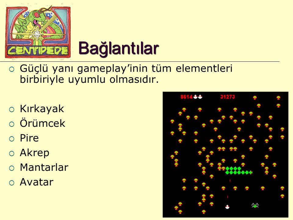 21 Bağlantılar  Güçlü yanı gameplay'inin tüm elementleri birbiriyle uyumlu olmasıdır.