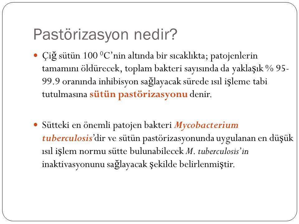 Pastörizasyon nedir.