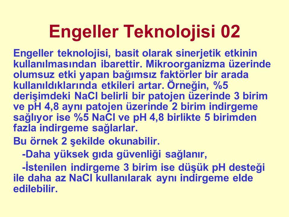 Engeller Teknolojisi 02 Engeller teknolojisi, basit olarak sinerjetik etkinin kullanılmasından ibarettir. Mikroorganizma üzerinde olumsuz etki yapan b