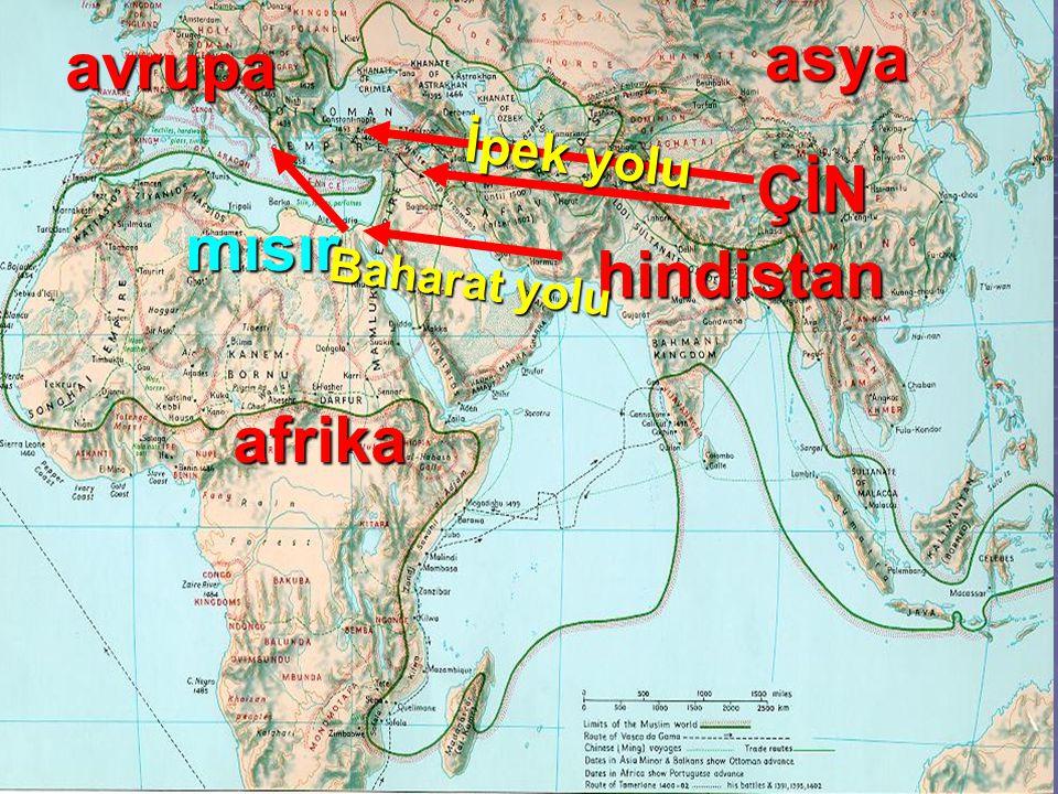 afrika avrupa hindistan asya ÇİN mısır İpek yolu Baharat yolu