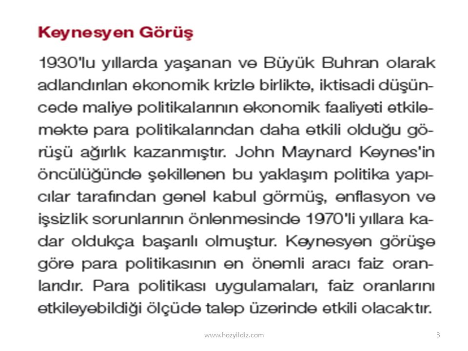 Operasyonel anlamda para politikası araçları www.hozyildiz.com24