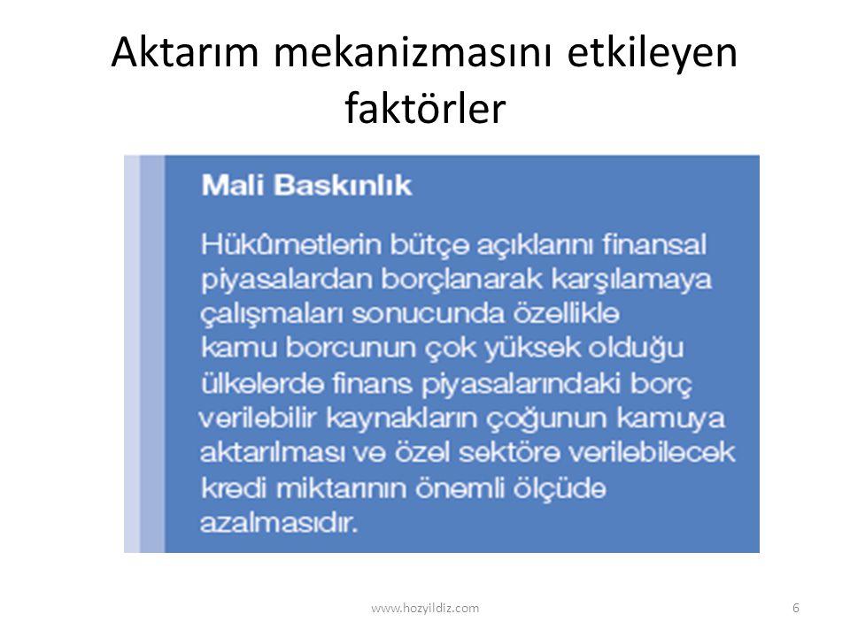 Operasyonel anlamda para politikası araçları www.hozyildiz.com27