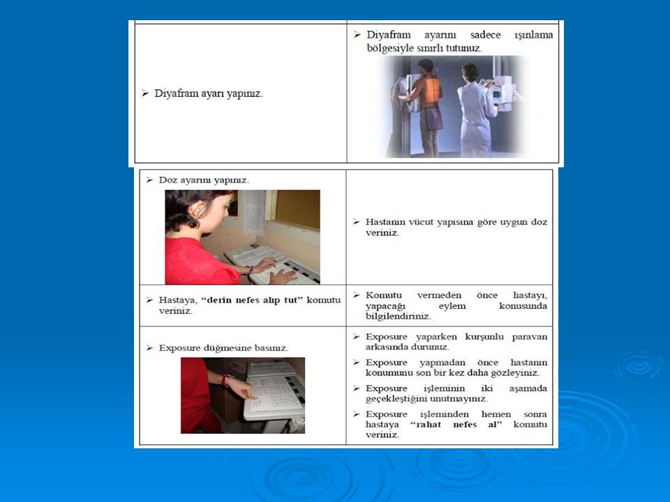 Resim 3.2: Akciğer sağ oblik radyogramı