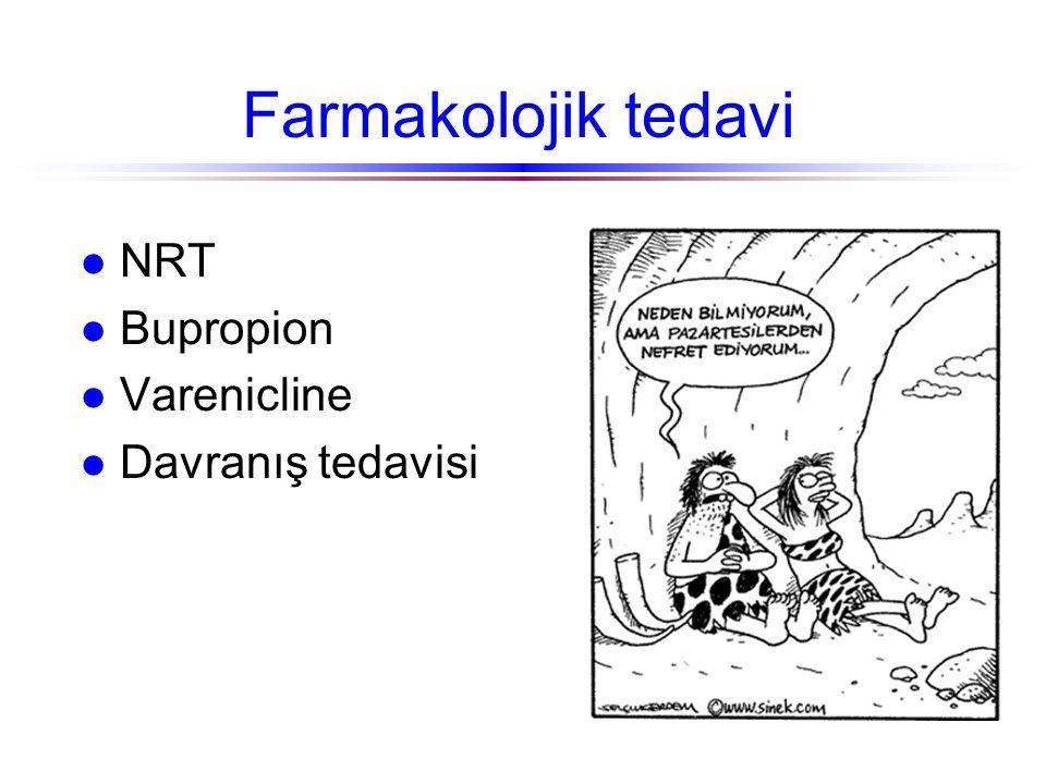 Farmakolojik tedavi l NRT l Bupropion l Varenicline l Davranış tedavisi