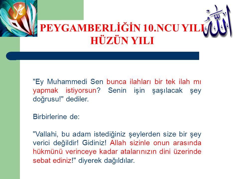 Ey Muhammedi Sen bunca ilahları bir tek ilah mı yapmak istiyorsun.