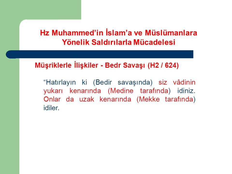 """Hz Muhammed'in İslam'a ve Müslümanlara Yönelik Saldırılarla Mücadelesi Müşriklerle İlişkiler - Bedr Savaşı (H2 / 624) """"Hatırlayın ki (Bedir savaşında)"""