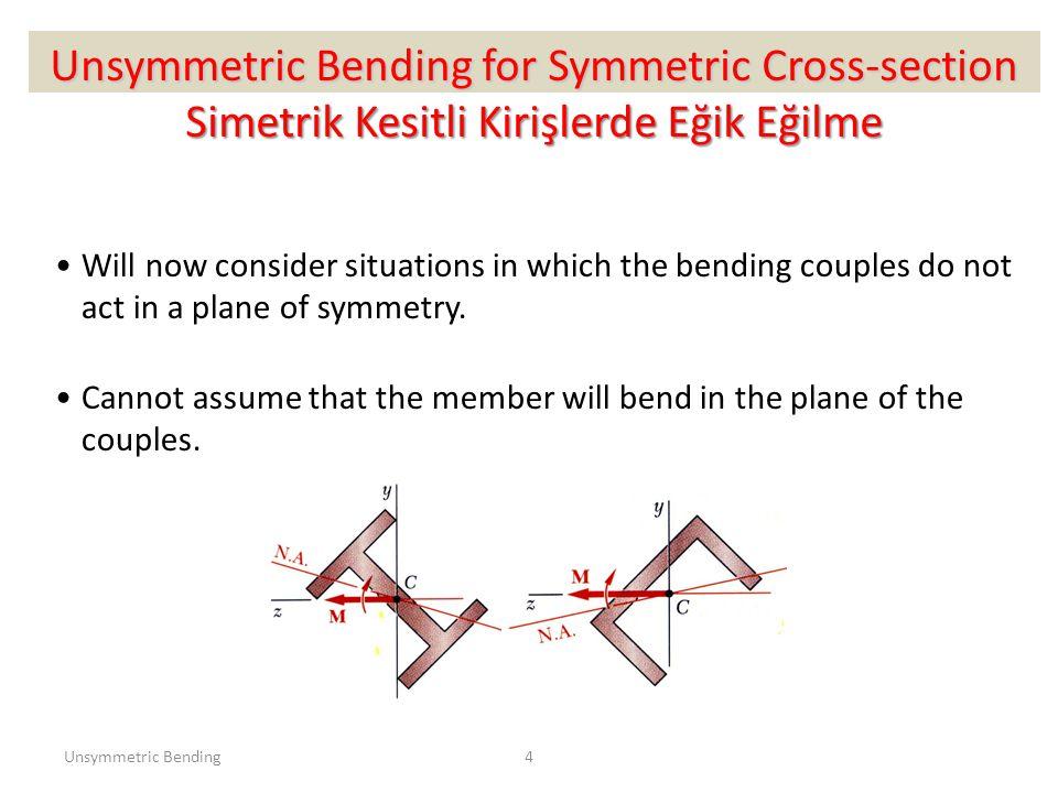 25 Simetrik Olmayan Kirişlerde Eğilme
