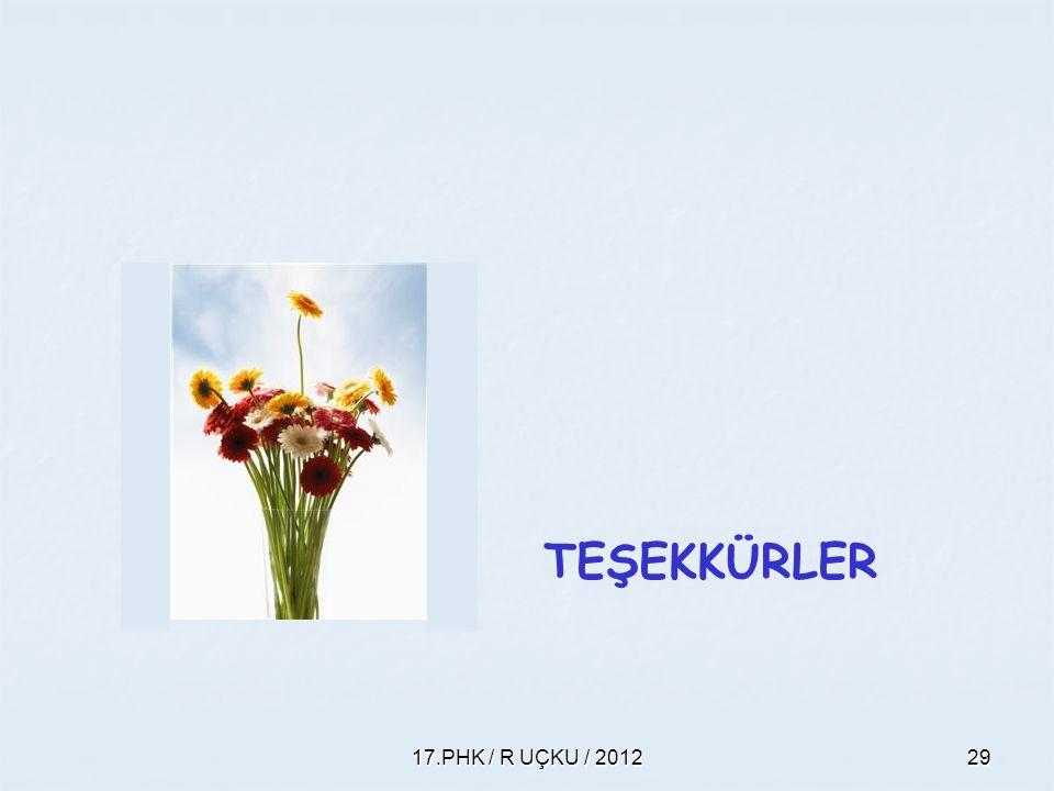 17.PHK / R UÇKU / 201229 TEŞEKKÜRLER