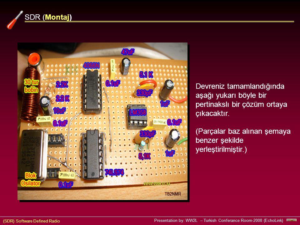 (SDR) Software Defined Radio Presentation by: WW2L – Turkish Conferance Room-2008 (EchoLink) Devreniz tamamlandığında aşağı yukarı böyle bir pertinakslı bir çözüm ortaya çıkacaktır.