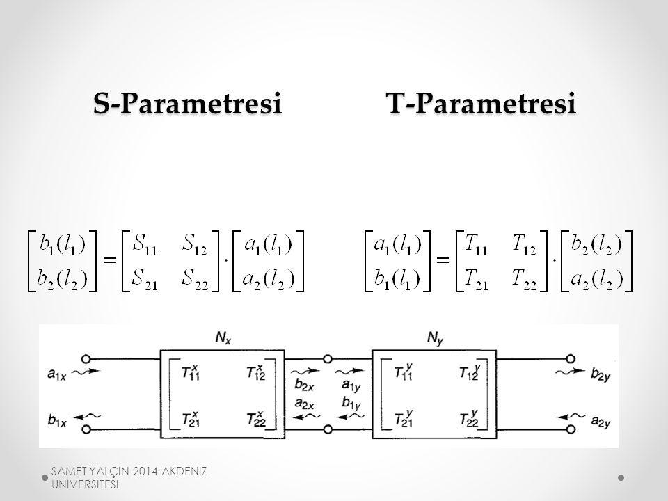 S-ParametresiT-Parametresi SAMET YALÇIN-2014-AKDENIZ UNIVERSITESI