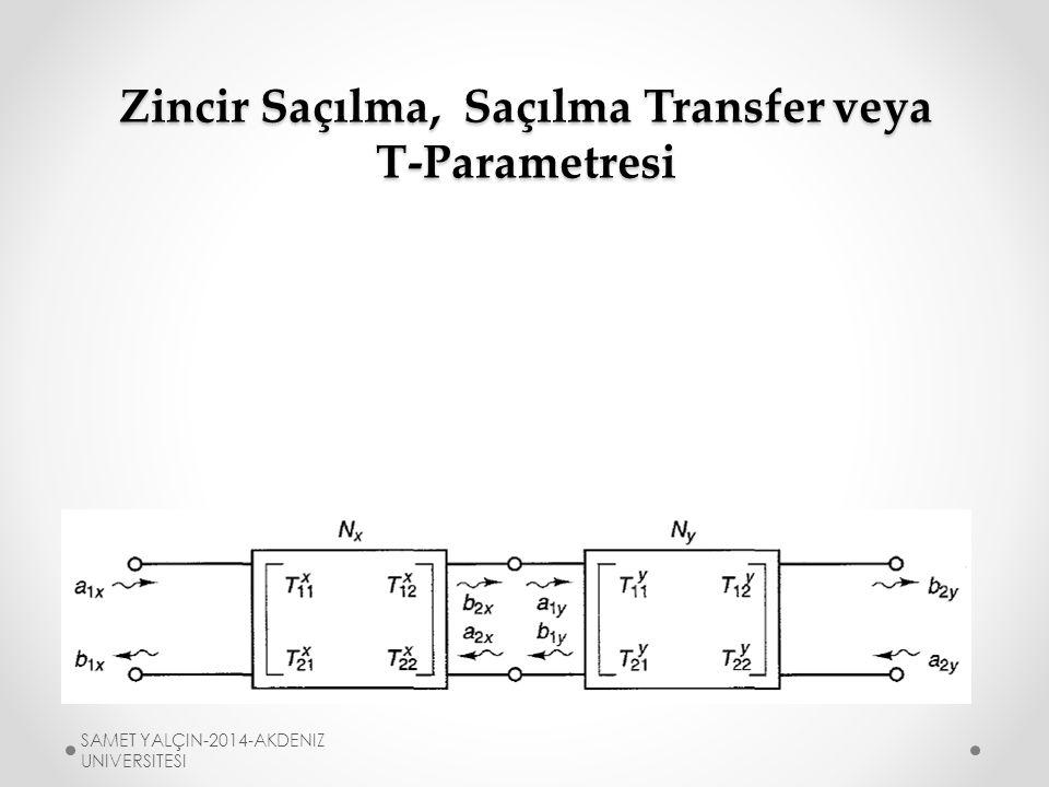 Zincir Saçılma, Saçılma Transfer veya T-Parametresi T-parametresi ardışık yapıda (kaskad) olan ağlar için kullanılır.