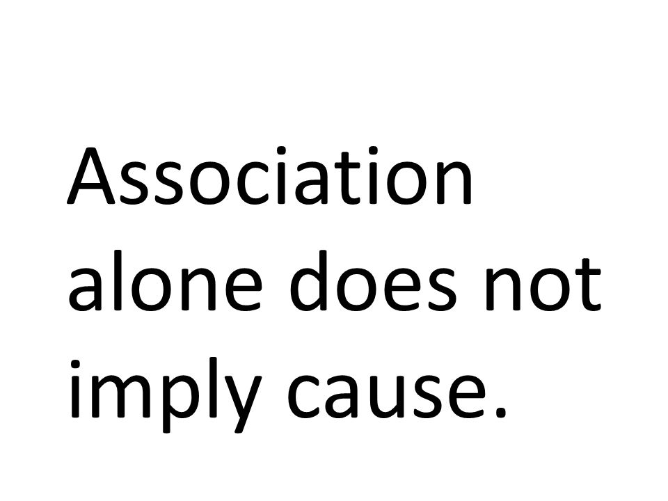 Association alone does not imply cause.