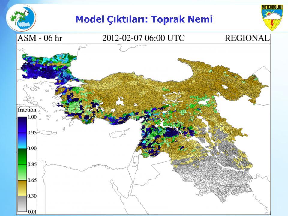 Model Çıktıları: Toprak Nemi
