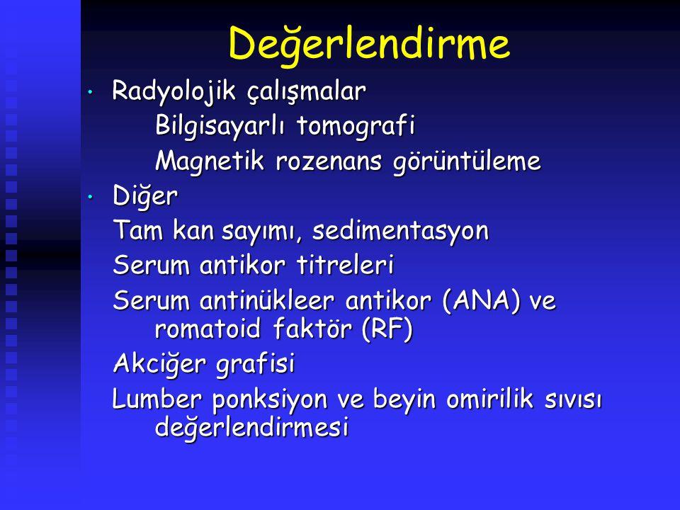 Ayırıcı tanı Enfeksiyon: Enfeksiyon: Bell paralizisi (herpes simpleks mononöriti), herpes zoster otikus (Ramsey Hunt sendromu), effüzyonlu otitis media, akut süppüratif otitis media, koalesan mastoidit, kronik otitis media, malignant otitis eksterna (kafa tabanı osteomyeliti), tüberküloz, Lyme hastalığı, AİDS, enfeksiyöz mononükleosis