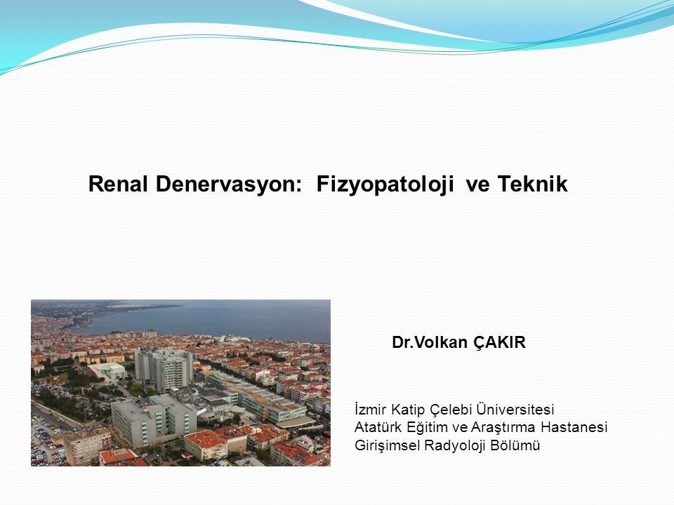 Renal Denervasyon: Fizyopatoloji ve Teknik İzmir Katip Çelebi Üniversitesi Atatürk Eğitim ve Araştırma Hastanesi Girişimsel Radyoloji Bölümü Dr.Volkan