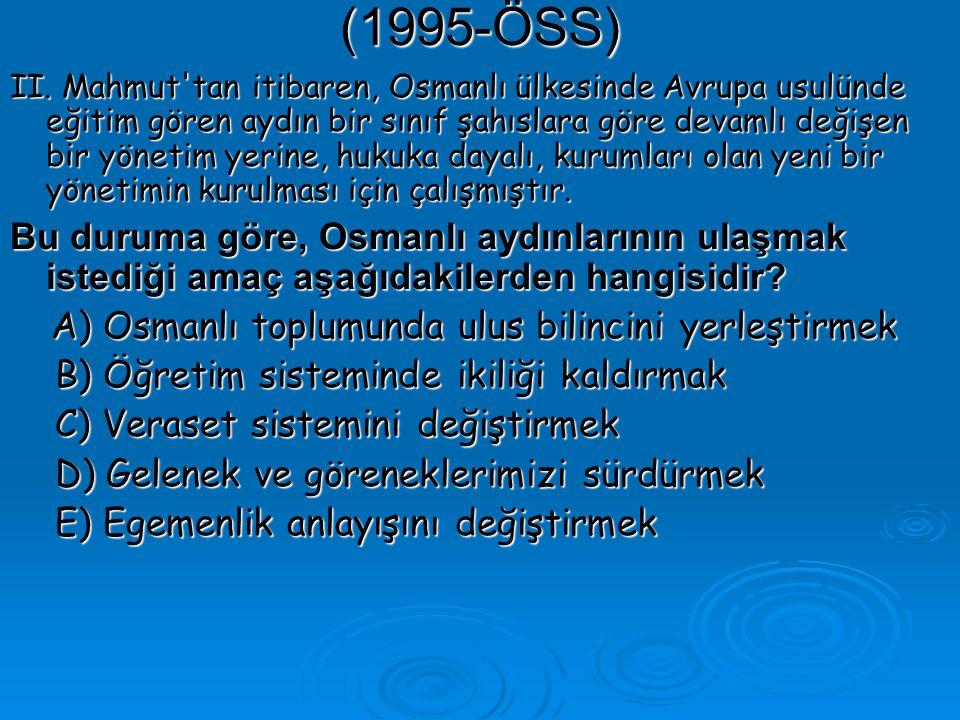 (1995-ÖSS) II.