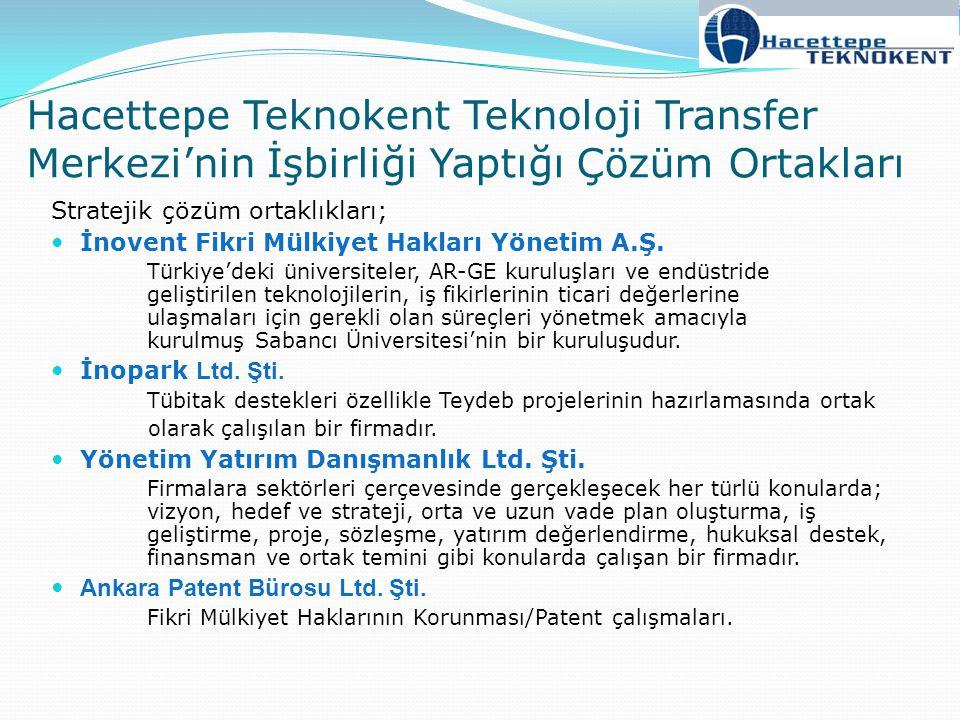 Stratejik çözüm ortaklıkları; İnovent Fikri Mülkiyet Hakları Yönetim A.Ş. Türkiye'deki üniversiteler, AR-GE kuruluşları ve endüstride geliştirilen tek