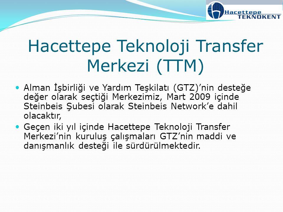 Hacettepe Teknoloji Transfer Merkezi (TTM) Alman İşbirliği ve Yardım Teşkilatı (GTZ)'nin desteğe değer olarak seçtiği Merkezimiz, Mart 2009 içinde Ste