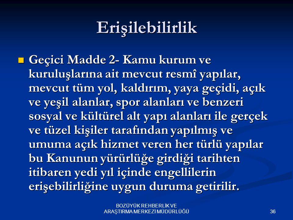 35 BOZÜYÜK REHBERLİK VE ARAŞTIRMA MERKEZİ MÜDÜRLÜĞÜ Velayetin Reddi Yine Türk Medeni Kanunu'nun 348. maddesinde velayetin reddi nedenleri arasında say