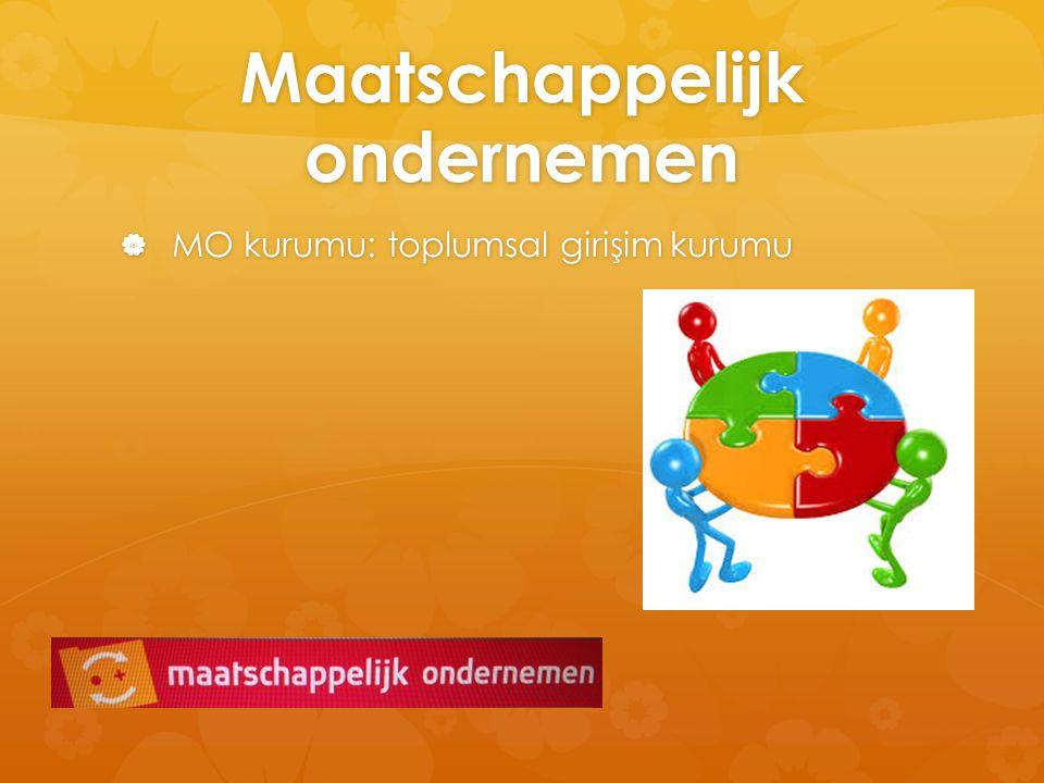 Maatschappelijk ondernemen  MO kurumu: toplumsal girişim kurumu
