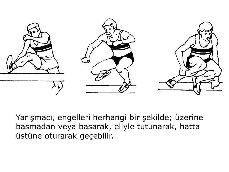 Su engelinde yarışmacı, suyun üzerinden atlamalı veya içinden geçmeli, havuzun ön tarafından çıkmalıdır.