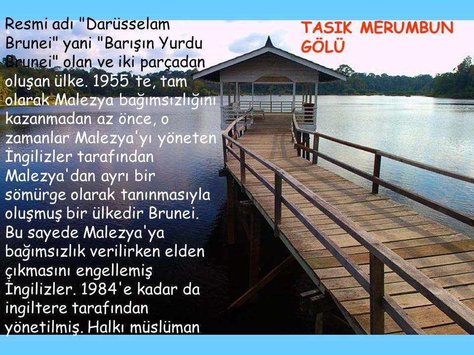 Resmi adı Darüsselam Brunei yani Barışın Yurdu Brunei olan ve iki parçadan oluşan ülke.
