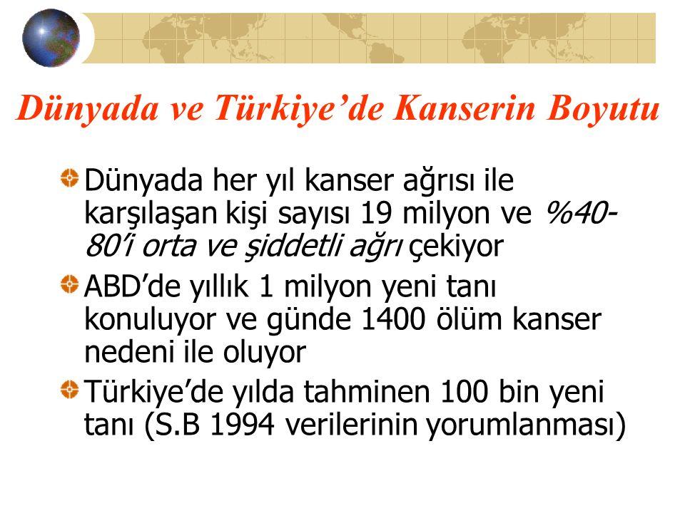 Tübitak 1997 ve Fırat D, Çelik İ: Cancer Statistics in Turkey and in the World 1993- 1995 Turkish Association For the Cancer Research and Control.