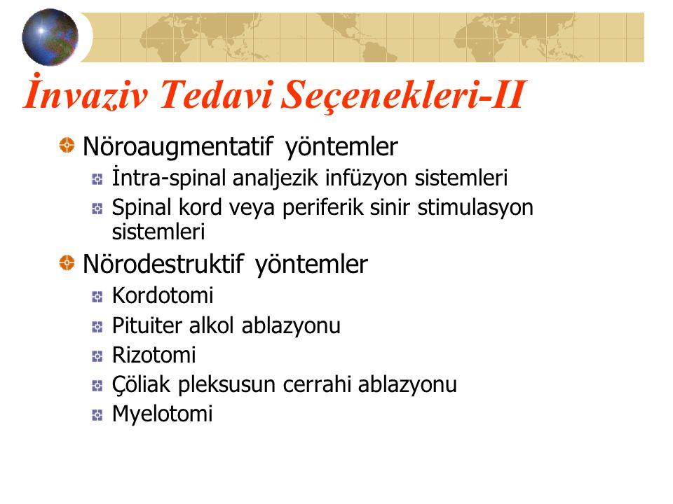 İnvaziv Tedavi Seçenekleri-II Nöroaugmentatif yöntemler İntra-spinal analjezik infüzyon sistemleri Spinal kord veya periferik sinir stimulasyon sistem