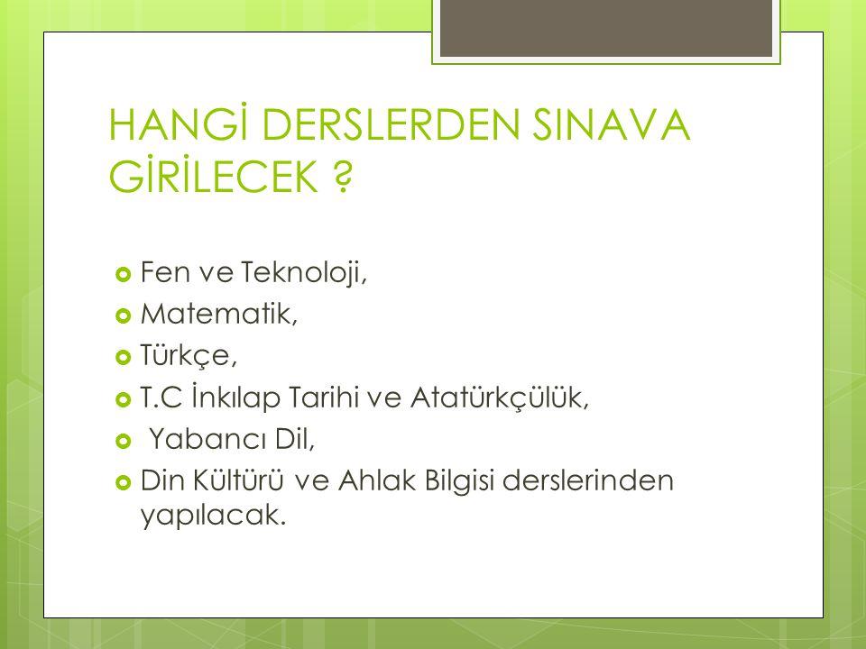 HANGİ SINIFLARDA BU SINAVLAR . Merkezi ortak sınavlar, 2013-2014 eğitim öğretim yılında sadece 8.